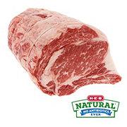H-E-B Natural Beef Ribeye Roast Bone In, 3 Ribs, USDA Choice