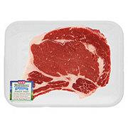 H-E-B Natural Beef Ribeye Steak Bone-In Thick USDA Choice