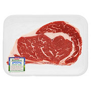 H-E-B Natural Beef Ribeye Steak Boneless Thick USDA Choice
