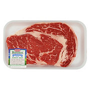 H-E-B Natural Beef Ribeye Steak Boneless USDA Choice