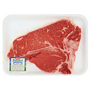 H-E-B Natural Beef T-Bone Steak Bone-In USDA Choice