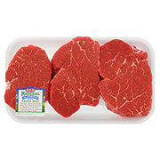 H-E-B Natural Beef Tenderloin Steak Special Trim Boneless Thick USDA Choice