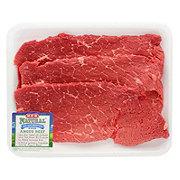 H-E-B Natural Beef Top Round Steak Thin USDA Choice