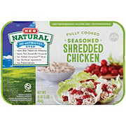 H-E-B Natural Fully Cooked Seasoned Shredded Chicken