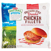 H-E-B Natural Fully Cooked Southern Style Breaded Chicken Fillets