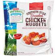 H-E-B Natural Fully Cooked Southern Style Breaded Chicken Nuggets