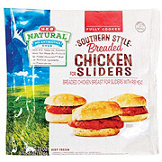 H-E-B Natural Fully Cooked Southern Style Breaded Chicken Sliders