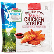 H-E-B Natural Fully Cooked Southern Style Breaded Chicken Strips