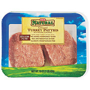 H-E-B Natural Ground Turkey Patties, 93% Lean