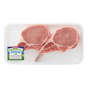 H-E-B Natural Pork Bone In Center Rib Chop Frenched Thick