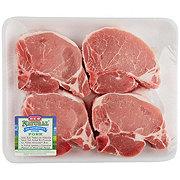 H-E-B Natural Pork Center Loin Chop Bone-In Thick Value Pack