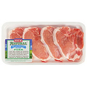 H-E-B Natural Pork Center Loin Chop Bone-In Thin