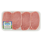 H-E-B Natural Pork Center Loin Chop Boneless