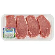 H-E-B Natural Pork Center Loin Chop Boneless Extra Thick