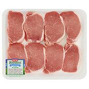 H-E-B Natural Pork Center Loin Chop Boneless Thick Value Pack