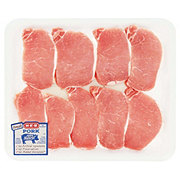 H-E-B Natural Pork Center Loin Chop Boneless Value Pack