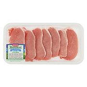 H-E-B Natural Pork Center Loin Chop Boneless Wafer Thin