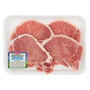 H-E-B Natural Pork Center Rib Chop Bone-In Thin