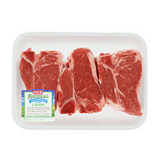 H-E-B Natural Pork Loin Chops Bone-In Thick