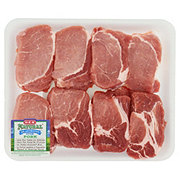 H-E-B Natural Pork Ribeye Chop Boneless Thick Value Pack
