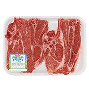 H-E-B Natural Pork Shoulder Blade Chops Bone-In