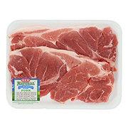 H-E-B Natural Pork Steaks Bone-In