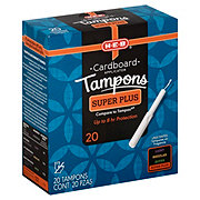 H-E-B Natural Tip Cardboard Super Plus Unscented Tampons