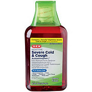 H-E-B Nighttime Severe Cold & Cough Relief Cherry Flavor
