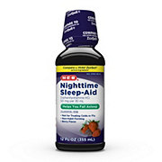 H-E-B Nighttime Sleep-Aid Diphenhydramine HCl 50 mg per 30 ml Berry Liquid