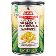 H-E-B No Salt Added Crisp N' Sweet Whole Kernel Corn