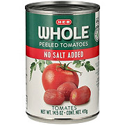 H-E-B No Salt Added Peeled Whole Tomatoes