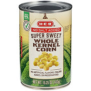 H-E-B No Salt Added Super Sweet Whole Kernel Corn