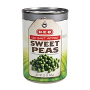 H-E-B No Salt Added Sweet Peas