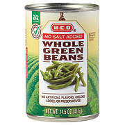 H-E-B No Salt Added Whole Green Beans