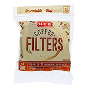 H-E-B Number 4 Cone Filter Natural