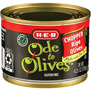 H-E-B Ode to Olives Chopped Ripe Black Olives