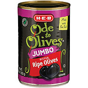H-E-B Ode to Olives Jumbo Pitted Ripe Black Olives
