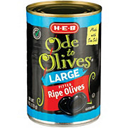 H-E-B Ode to Olives Large Ripe Pitted Black Olives