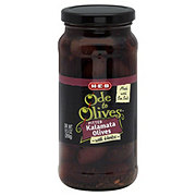 H-E-B Ode to Olives Pitted Kalamata Black Olives with Herbs