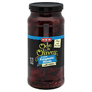 H-E-B Ode to Olives Sliced Kalamata Black Olives with Herbs