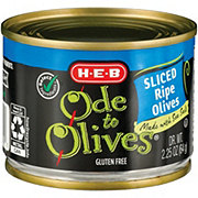 H-E-B Ode to Olives Sliced Ripe Black Olives