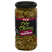 H-E-B Ode to Olives Sliced Salad Green Olives