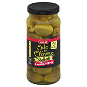 H-E-B Ode to Olives Stuffed With Banana Peppers