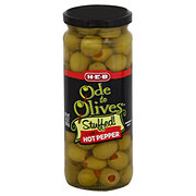 H-E-B Ode to Olives Stuffed! with Hot Pepper Green Olives