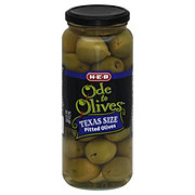 H-E-B Ode to Olives Texas Size Pitted Green Olives