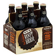 H-E-B Old Fashioned Root Beer 6 PK Bottles