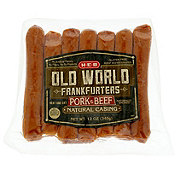 H-E-B Old World Pork & Beef Frankfurter