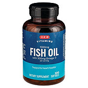 H-E-B Omega 3 Fish Oil, 1000 MG