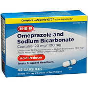 H-E-B Omeprazole and Sodium Bicarbonate 20 mg Acid Reducer Capsules
