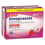 H-E-B Omeprazole Orally Disintegrating Tablets 20mg